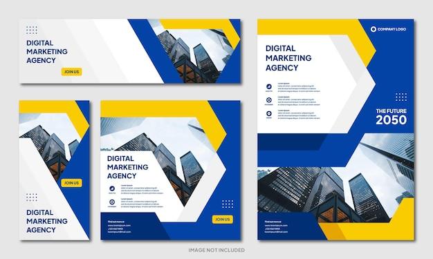 Nowoczesny kreatywny szablon projektu broszury korporacyjnej i baner postu w mediach społecznościowych
