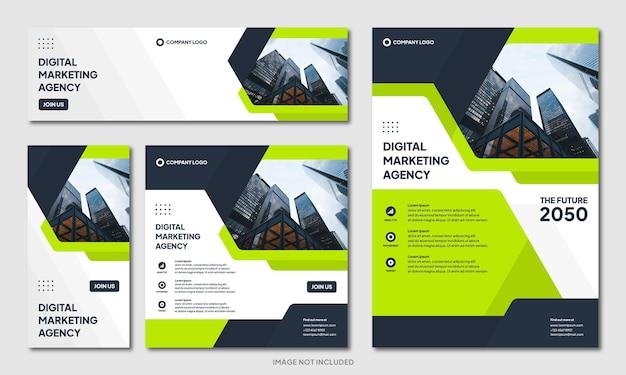 Nowoczesny kreatywny szablon projektu broszury korporacyjnej i baner w mediach społecznościowych na instagram