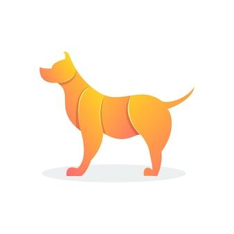 Nowoczesny kształt psa