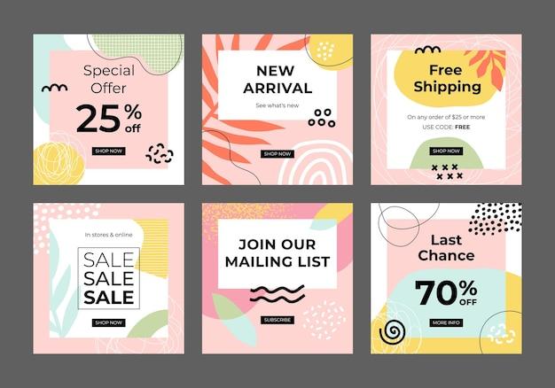 Nowoczesny kwadratowy baner promocyjny do projektowania banerów aplikacji mobilnych w mediach społecznościowych