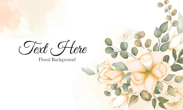Nowoczesny kwiatowy wzór z piękną dekoracją kwiatową