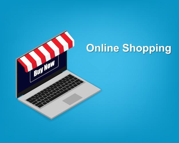 Nowoczesny laptop z możliwością zakupów online