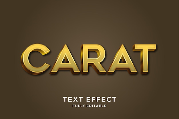 Nowoczesny, luksusowy efekt tekstowy złoty karat