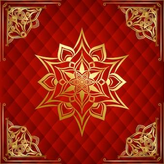 Nowoczesny luksusowy ozdobny mandali tło