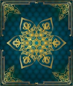 Nowoczesny luksusowy ozdobny ozdobny mandali tło