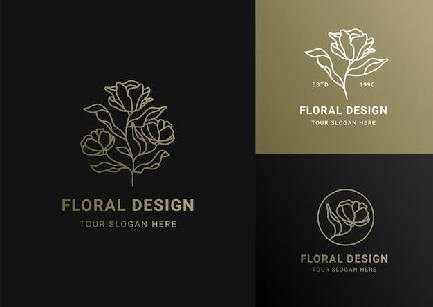 Nowoczesny luksusowy styl logo firmy ikona logo godło wektor koncepcja zestaw szablonów projektu