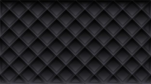 Nowoczesny luksusowy wzór geometryczny 3d w kolorze czarnym
