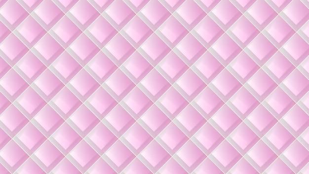 Nowoczesny luksusowy wzór geometryczny 3d w kolorze różowym