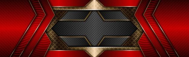 Nowoczesny luksusowy złoty z ciemnoczerwonym