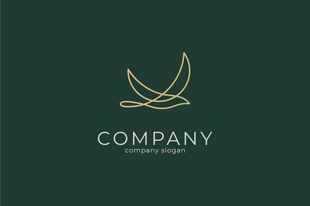 Nowoczesny minimalistyczny elegancki szablon ikona logo ptaka wektor