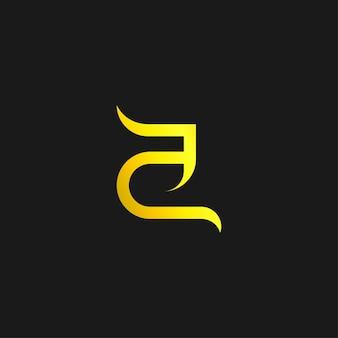 Nowoczesny minimalistyczny i luksusowy list koncepcja logo
