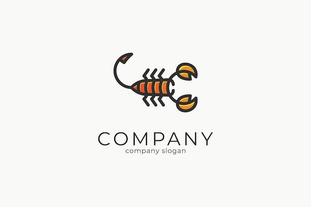 Nowoczesny minimalistyczny szablon ikony wektor logo skorpion