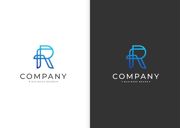 Nowoczesny minimalistyczny szablon projektu logo litery r