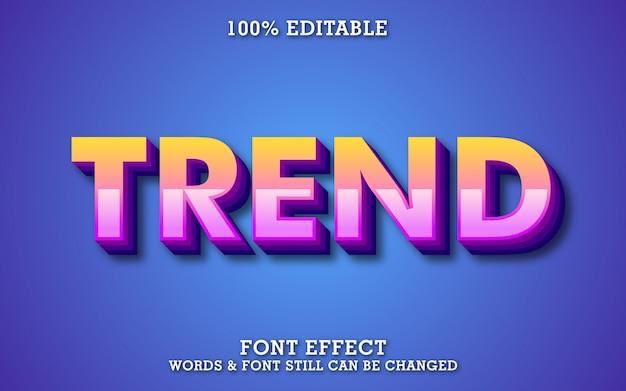 Nowoczesny modny efekt tekstowy z wyciągnięciem i cieniem