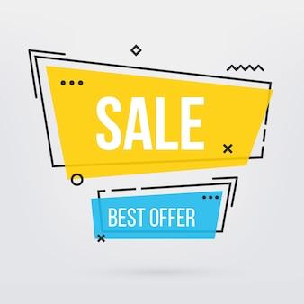Nowoczesny modny sezon sprzedaż transparent oferty tag.