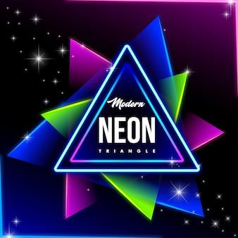 Nowoczesny neon tło trójkąta
