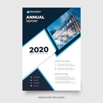 Nowoczesny niebieski roczny szablon broszury