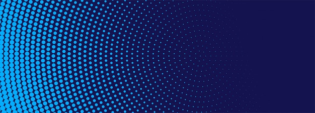 Nowoczesny niebieski transparent półtonów