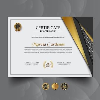 Nowoczesny nowy profesjonalny szablon certyfikatu