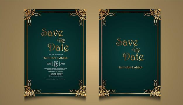 Nowoczesny nowy szablon zaproszenia na ślub