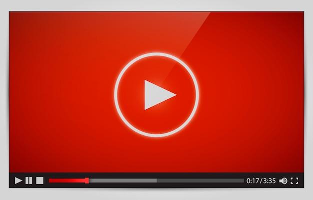 Nowoczesny odtwarzacz wideo do internetu.