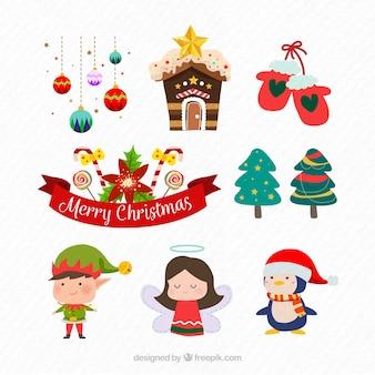 Nowoczesny pakiet akcesoriów świątecznych