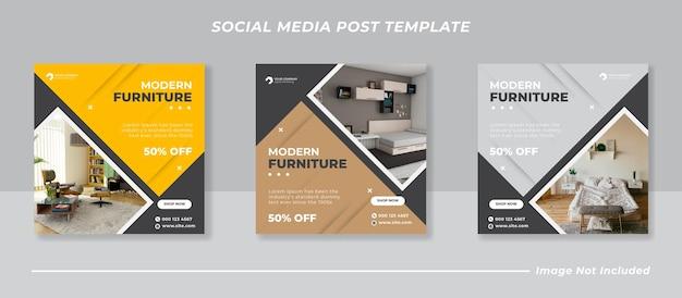 Nowoczesny pakiet banerów na instagramie w mediach społecznościowych