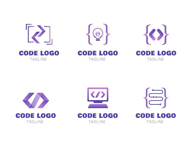 Nowoczesny Pakiet Logo Kodu Darmowych Wektorów