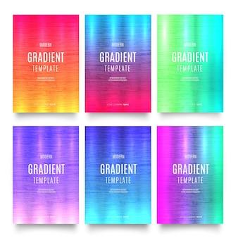 Nowoczesny pakiet okładek broszur szablonu gradientu
