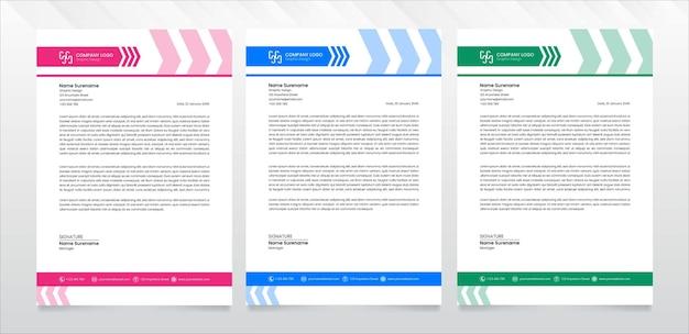 Nowoczesny papier firmowy szablon wektor