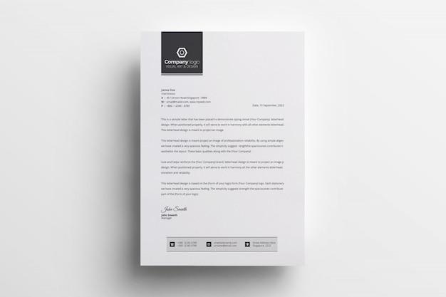 Nowoczesny papier firmowy w eleganckim stylu