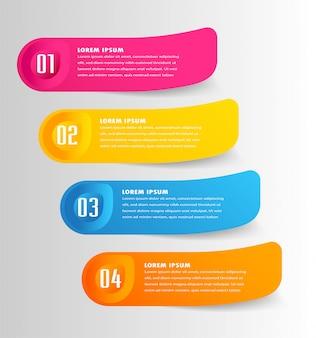 Nowoczesny papier szablon pola tekstowego, baner infographic