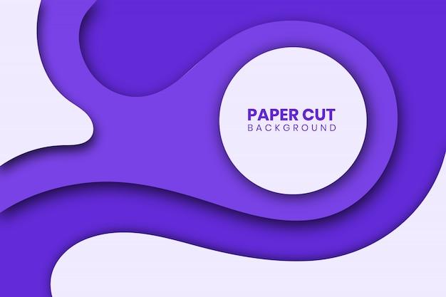 Nowoczesny papier wyciąć szlam tło