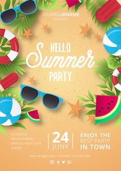 Nowoczesny plakat party lato