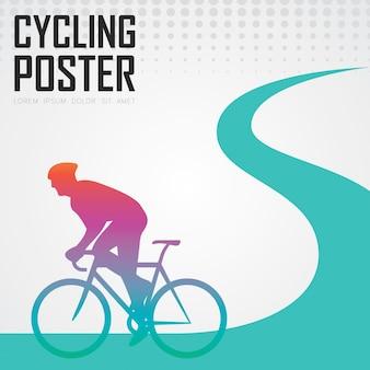 Nowoczesny plakat rowerowy