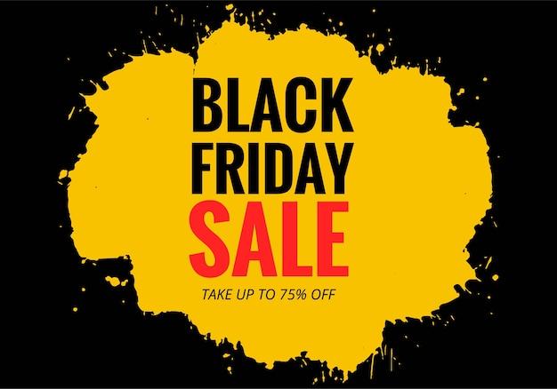 Nowoczesny plakat sprzedaży w czarny piątek