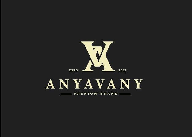Nowoczesny początkowy szablon projektu logo va letter, ilustracje wektorowe