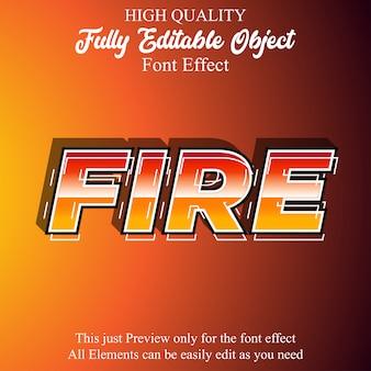 Nowoczesny, pogrubiony, edytowalny efekt czcionki w stylu tekstu ognia