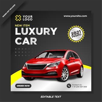 Nowoczesny post promocyjny na instagramie sprzedaży samochodów
