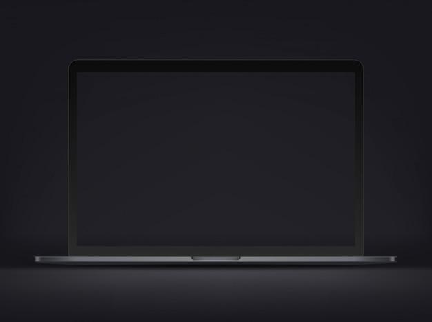 Nowoczesny premium laptop na ciemnym tle