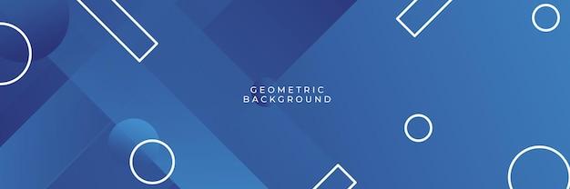 Nowoczesny profesjonalny niebieski wektor abstrakcyjne tło biznesu technologia z linii i kształtów geometrycznych. niebieskie tło z nowoczesną koncepcją techniczną