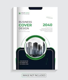 Nowoczesny profesjonalny projekt okładki książki firmowej premium vector