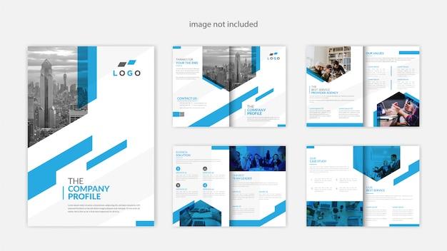 Nowoczesny profil firmy projekt broszury
