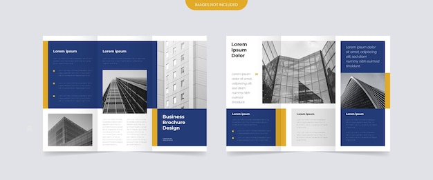 Nowoczesny Projekt Broszury Biznesowej Trifold Premium Wektorów