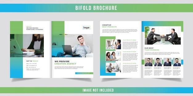 Nowoczesny projekt gradientu bifold broszura