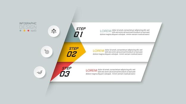 Nowoczesny projekt infografiki