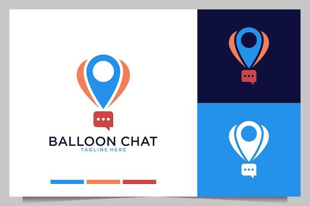 Nowoczesny projekt logo czatu balonowego