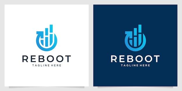 Nowoczesny projekt logo inwestycji w ponowne uruchomienie
