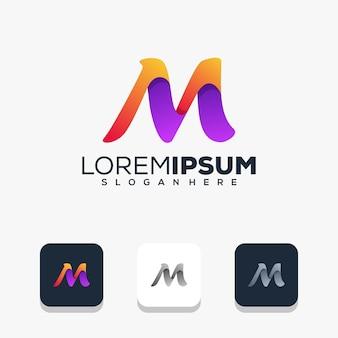 Nowoczesny projekt logo litery m