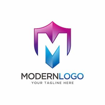 Nowoczesny projekt logo litery m.
